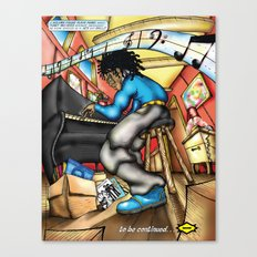 C2 & Posse piano player Canvas Print