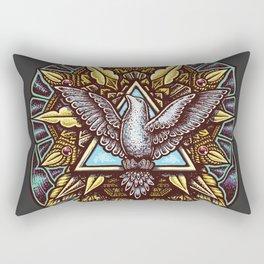 Trinity Merkabah Spirit Dove Mandala Rectangular Pillow