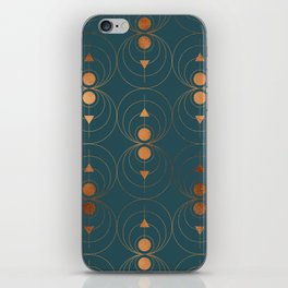 Copper Art Deco on Emerald iPhone Skin