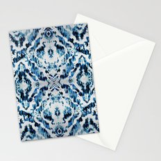Peacock Tie-Dye Damask Stationery Cards