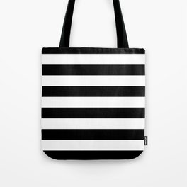 Black White Stripe Minimalist Tote Bag