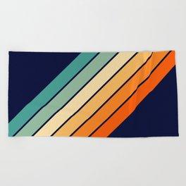 Farida - 70s Vintage Style Retro Stripes Beach Towel