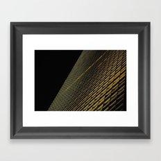 Night Building Facade Framed Art Print