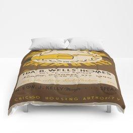 Vintage poster - Dedication Ceremonies Comforters