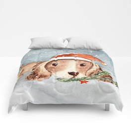 Christmas Puppy Look Comforters