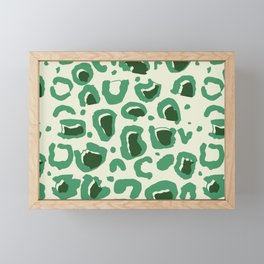 Leopard Skin Inspire Pattern Green Framed Mini Art Print