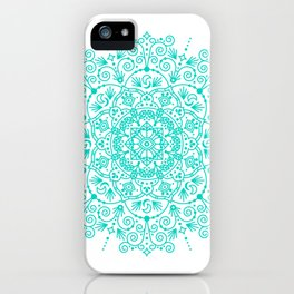 Moroccan Mandala – Turquoise Palette iPhone Case