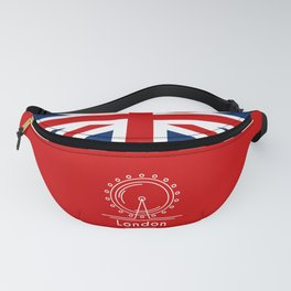 London (Red) Fanny Pack