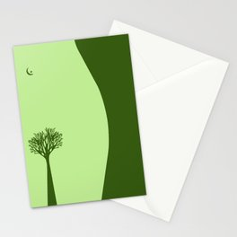 The Body of a Nature - pop art stylised erotic vector illustration in green Stationery Cards