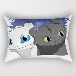 Light/Night Fury Rectangular Pillow
