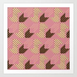 Clover&Nessie Macaron/Wine Art Print
