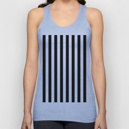 Parisian Black & White Stripes (vertical) Unisex Tank Top