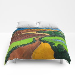 Down a Country Road Comforters
