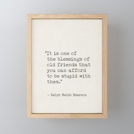 Emerson, Ralph Waldo quote awesome Framed Mini Art Print