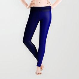 Rich Vibrant Indigo Blue Gradient Leggings