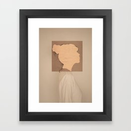 Paper portrait Framed Art Print