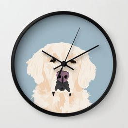 Golden Retreiver Wall Clock