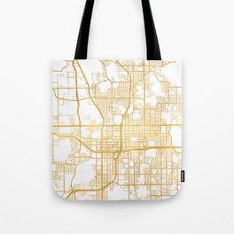 ORLANDO FLORIDA CITY STREET MAP ART Tote Bag