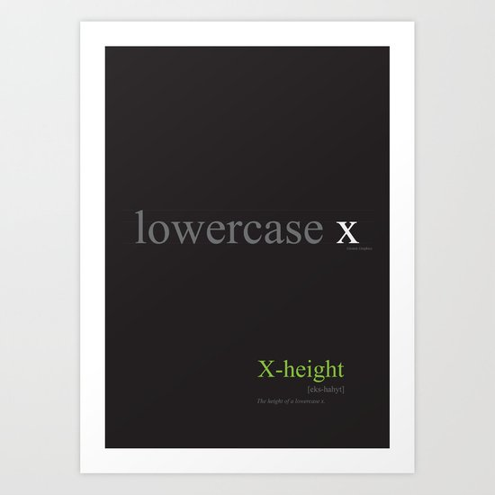 Typo Type B: X-height Art Print