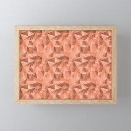 Abstract Geometrical Triangle Patterns 3 VA Fringe Orange - Orange Slice - Fiery Sky Orange - Heirlo Framed Mini Art Print