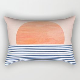 Summer Sunrise - Minimal Abstract Rectangular Pillow