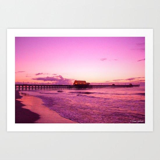 Sunrise at Apache Pier Myrtle Beach Art Print