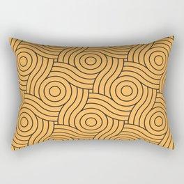 Circle Swirl Pattern VA Bright Marigold - Spring Squash - Pure Joy - Just Ducky Rectangular Pillow