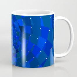Blue Rose Cosmic Galaxy Geometric Coffee Mug