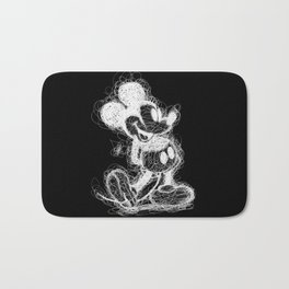 Mickey Mouse inverted Scribble Bath Mat