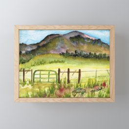 New Mexico Prairie Framed Mini Art Print