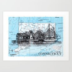 Connecticut Art Print