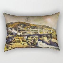 Mountain Stream Snowdonia Rectangular Pillow