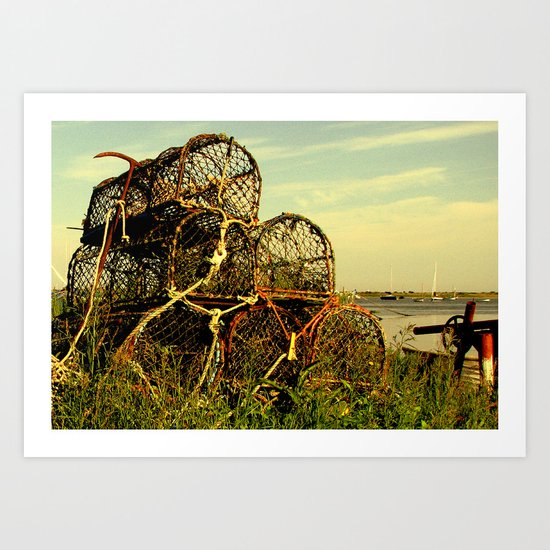 Lobster Pots Art Print