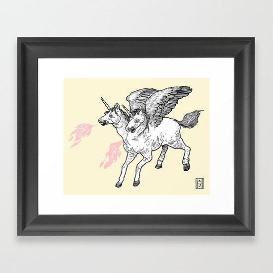 Badass Framed Art Print