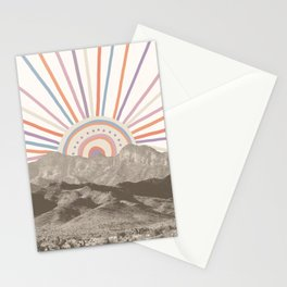 Summerlin Mountain // Abstract Vintage Mountains Summer Sun Vibe Drawing Happy Wall Hanging Stationery Cards