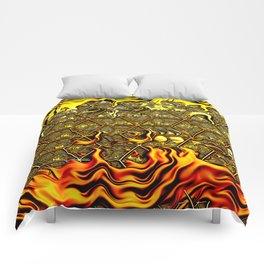 Psychedelic Honeycomb Comforters
