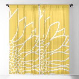 Sunflower Cheerfulness Sheer Curtain