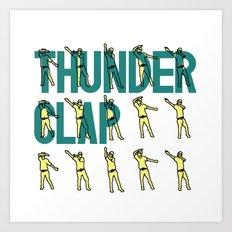 Thunder Clap Art Print