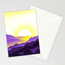 Nonbinary Pride Sunrise Landscape Stationery Cards