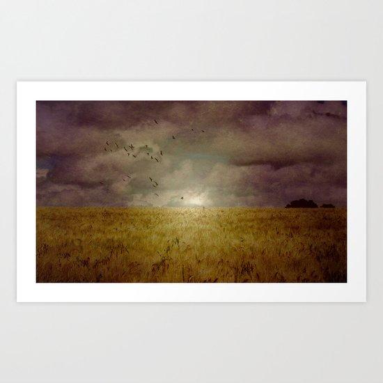 When we walked in fields of gold Art Print