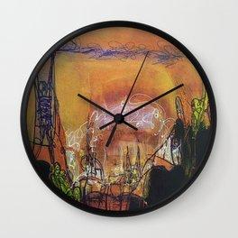 Sin City - Mixed Media Acrylic Abstract Modern Art, 2010 Wall Clock