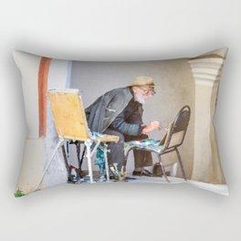 Old painter Rectangular Pillow