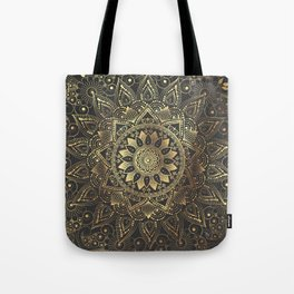 Elegant gold mandala artwork Tote Bag