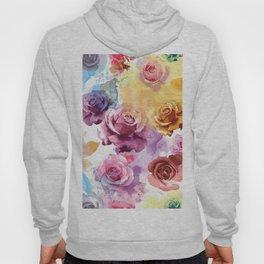 Watercolor Roses Hoody