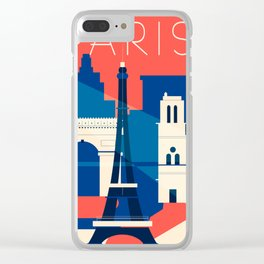 Abstract Paris Clear iPhone Case