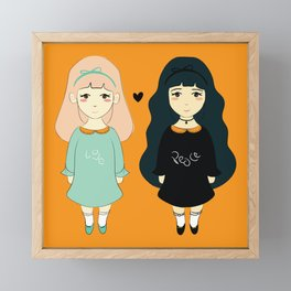 Love vs Twins Framed Mini Art Print