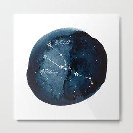 Taurus Zodiac Constellation Metal Print