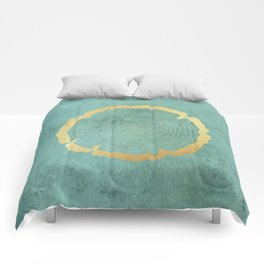 Gold Foil Tree Ring Comforters