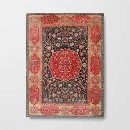 Salting Safavid 16th Century Persian Carpet Metal Print