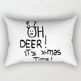 Oh deer it's x-mas time Rectangular Pillow
